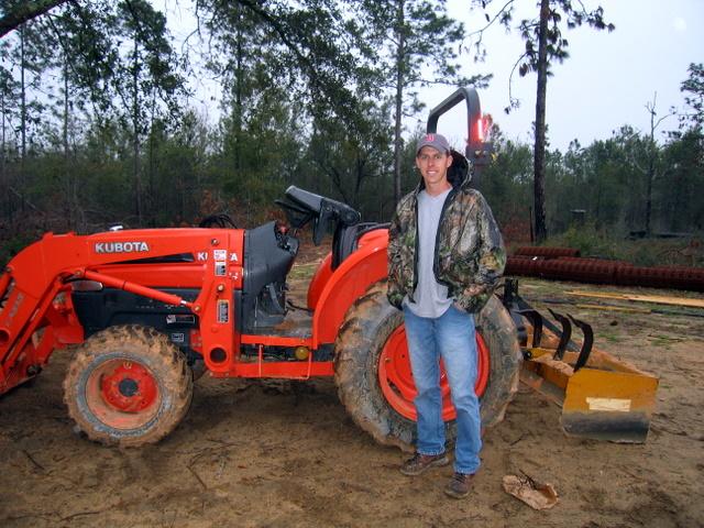 Jesse With Kubota Tractor
