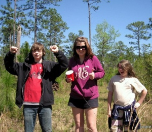 Kids on nature walk at Longleaf