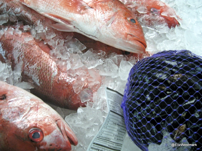 Red Snapper on Ice at Joe Patti's Seafood, Pensacola, Florida