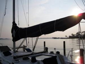 "Tom & Patsy's sailboat ""True North"""